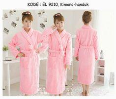 9210-170rb Jual kimono bathrobe handuk mandi polos pink