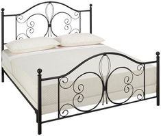 See our current selection of metal beds for sale at Jordan's Furniture in Massachusetts, New Hampshire and Rhode Island. Steel Bed Design, Bed Frame Design, Wrought Iron Beds, Discount Bedroom Furniture, Metal Platform Bed, Bedding Master Bedroom, Hillsdale Furniture, Iron Furniture, Office Furniture