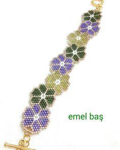 Brick stitch bracelet by Emel Bas from Turkey