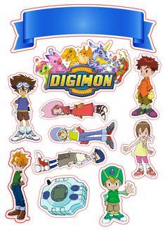 Topo de Bolo Digimon Digimon Adventure, Sweet 16 Parties, Dragon Ball, Cake Toppers, Pokemon, Fan Art, Tags, Birthday, Anime