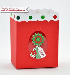 Splotch Design - Jacquii McLeay - Stampin Up - Christmas Fancy Favour Box