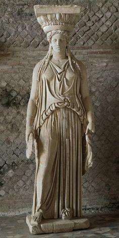 Caryatid Dedicated to the goddess Artemis, the virgin deity of purity  The…