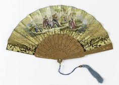 Pleated Fan, ca. 1840
