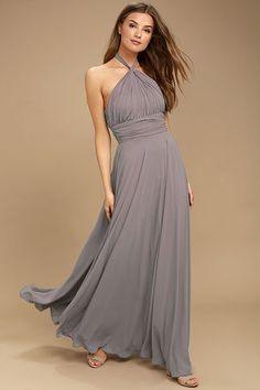 Dance of the Elements Dusty Purple Maxi Dress 1