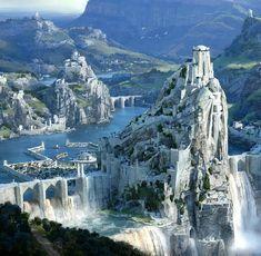 Likes, 27 Comments - art Fantasy City, Fantasy Castle, Fantasy Places, Fantasy Map, Medieval Fantasy, Fantasy World, Sci Fi Fantasy, Fantasy Art Landscapes, Fantasy Landscape