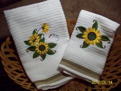 Sunflower Kitchen Stuff | Decorative Machine Embroidered Sunflowers Kitchen  Towel By Lpming