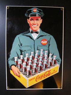 Vintage Coca Cola Sign Advertisement Coke Sign by GOSHENPICKERS, $35.00