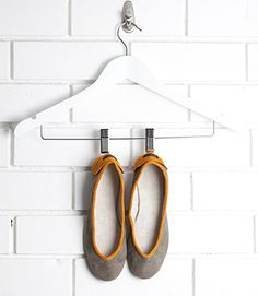 Suede and leather comfy, slipper style ballet flats. Best Yet, Color Combinations, Ballet Flats, Winter Outfits, Slippers, Footwear, Comfy, Kid Spaces, Orange