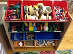 Organization system for collage materials