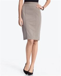 Neutral Pinstripe Pencil Skirt, White House Black Market, $49.99