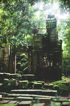 fallen temple at ta prohm, siem reap, cambodia | travel destinations in southeast asia + ruins #wanderlust