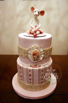 Victorian Ballerina Cake  By: SallyBratt  Victorian Ballerina cake for my niece's 7th birthday. Chocolate cake with raspberry buttercream.
