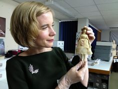 Here I'm with one of the young Queen Victoria's dolls –…