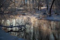 Русская зима в Новом Иерусалиме перед Крещением.