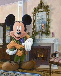 Mickey and Walt in the Disneyland dream suite Disney Mickey Mouse, Walt Disney, Mickey Mouse Y Amigos, Mickey Love, Mickey Mouse And Friends, Cute Disney, Disney Dream, Disney Films, Disney Cartoons