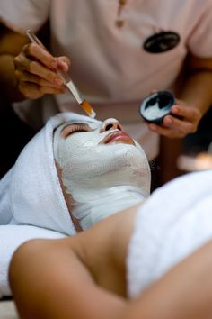 Spa Treatment. A young woman has a facial treatment at a spa , #SPONSORED, #young, #Treatment, #Spa, #woman, #spa #ad