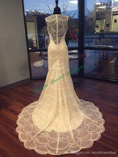 Mermaid Lace Wedding Dresses 2016 Vestido De Noiva With V Neck And Long Train Actual Pictures Fully Beaded Lace Mermaid Sexy Bridal Gowns Sexy Dresses For Wedding From Nicedressonline, $257.23| Dhgate.Com