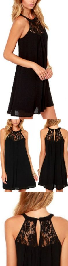 Lace Patchwork Mini Dress! Click The Image To Buy It Now or Tag Someone You Want To Buy This For. #BlackLaceDress