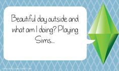 I am going to enjoy paradise...on the sims.