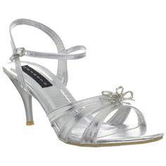 Celeste Women's 'Mari-05' Silver Ankle Strap Heels   Overstock.com Shopping - Great Deals on Celeste Heels