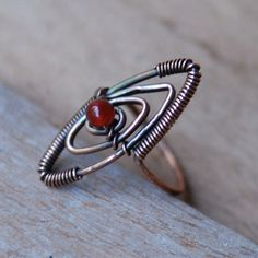 Copper and Red Orange Aventurine Ring by NeroliHandmade, via Flickr