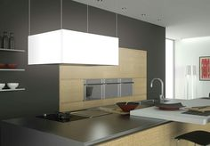 The Halo island lamp hood adds an elegant touch and ambient lighting to your kitchen. Frecan, the luxury brand in extractor hoods. Halo, Extractor Hood, Wall Mount Range Hood, Mirror, Lighting, Luxury, Kitchen, Furniture, Home Decor