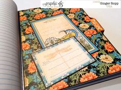 Great journaling sections in Ginger's altered Artisan Style notebook #graphic45