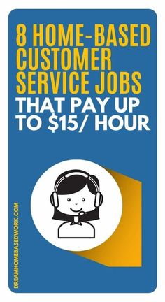 Need a home-based customer service job?  Pay varies greatly between remote companies.  These 8 companies pay up to $15 Per Hour.  Start your search with this list!  #customerservice #workathome #jobs #hiring Work From Home Companies, Work From Home Opportunities, Work From Home Jobs, Earn Money Online Fast, Earn Money From Home, Home Based Work, Customer Service Jobs, Typing Skills, Virtual Assistant Jobs