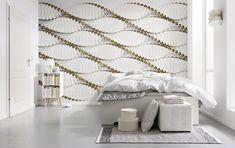 Modern Elegance: Die Kombination Aus Geometrischen Formen Und Linien Mit  Edlen Gold  Und Weißtönen