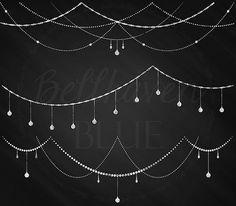 Chalkboard String Light Garland Clipart by BellhavenBlue on Etsy Chalkboard Clipart, Chalkboard Doodles, Chalkboard Designs, Chalkboard Art, Chalk Marker, Chalk Wall, Der Computer, Light Clips, Christmas Chalkboard
