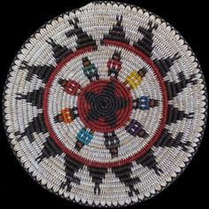 Navajo Deer Ceremonial Basket - Peggy Black Native Art, Native American Art, Crochet Baskets, Navajo Rugs, Bubble Art, Wild Child, Native Americans, Jewelry Art, Pot Holders