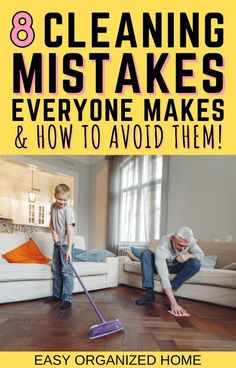 Become a home cleaning pro by learning the 8 cleaning mistakes everyone makes and how you can avoid making them too! #cleaning #cleaninghacks #cleanhome #homehacks #cleaningtips