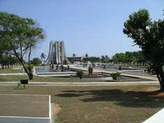 A national park erected in memory of Osagyefo (the Messiah) Doctor Kwame Nkrumah, Ghana's first president and one of its founding fathers. Republic Of Ghana, West African Countries, Memorial Park, Accra, Online Tickets, Time Travel, Marina Bay Sands, 2 In, Statue Of Liberty