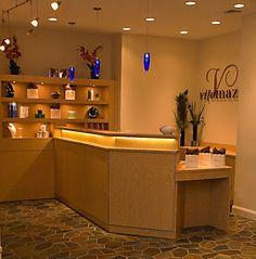 Vito Mazza Salon - by Salon Interiors, Inc. Custom Retail, Reception Desk