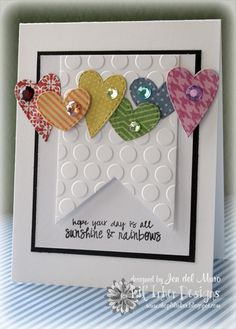 card by Jen del Muro.... Love this!... (pinned straight from her own board, but it does not go to the original post)