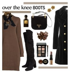 """Over-the-knee Boots - 170916"" by vixen-vixen ❤ liked on Polyvore featuring Yves Saint Laurent, Prada, Hermès, Oscar de la Renta, Tom Ford, Bobbi Brown Cosmetics and Gucci"