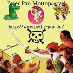 """Kinder lieben Peter Pan, Geburtstagsfeiern und Motto-Partys! Wieso nicht alles miteinander verbinden?  Das Nimmerland mag eine kleine Insel sein, aber es ist auch ein wahres Abenteuerland. Hier leben """"liebliche"""" Feen, verwegene Piraten, wilde Tiere, mutige Indianer und natürlich Peter Pan mit seinen Verlorenen Jungs. Für jeden Geschmack ist also etwas dabei! #Mottopartys #Kindergeburtstag #geburtstag #birthday"""