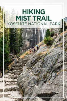 How Difficult is Mist Trail at Yosemite for The Average Person? Us National Parks, Yosemite National Park, Mist Trail Yosemite, United States Travel, Travel Inspiration, Travel Ideas, Travel Tips, Hiking Trails, Where To Go