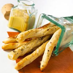 These soft, chewy breadsticks make great dippers on an appetizer or snack tray.