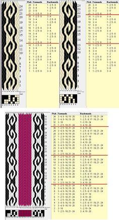 Bordes de 8 tarjetas // 24 tarjetas, 3 colores. repite cada 10 movimientos // sed_633 diseñado en GTT༺❁