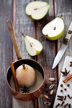 Sunday Mornings Are For Poaching Pears by tartelette, via Flickr.