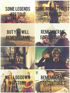 Fandoms + Fall Out Boy ~ Centuries. --- Hobbit, Hunger Games, Doctor Who, Sherlock, Avengers (Loki), American Horror Story, Reign & Harry Potter