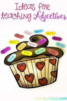 Adjective sprinkles and many other activity ideas for teaching this important grammar skill in the classroom.