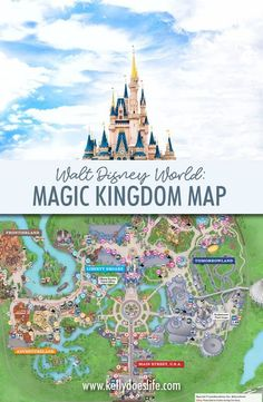 Are you planning your trip to Walt Disney World and want to know more about the Magic Kingdom? Find the most up to date map of Magic Kingdom for your 2019 Disney World family vacation to Orlando! Head down Main Street USA to find out where the rides are, Disney World Resorts, Disney World Map, Disney Map, Disney World Secrets, Disney World Rides, Disney World Vacation Planning, Disney World Florida, Disney World Tips And Tricks, Disney Vacations