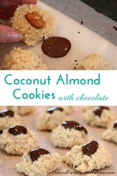Coconut Almond Cookies with Chocolate, you won't regret making these!