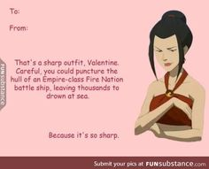 Azusa really knows how to compliment guys - FunSubstance Avatar Airbender, Avatar Azula, Team Avatar, Avatar Funny, Sneak Attack, Avatar Series, Fire Nation, Zuko, Pick Up Lines