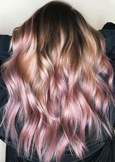 Dirty blond hair into light blonde and pink ends