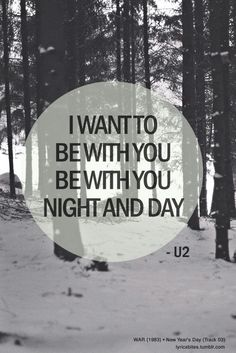 for 'New Year's Day' Writer(s): Bono. U2 Lyrics, Great Song Lyrics, Kinds Of Music, Music Love, Music Is Life, U2 Band, U2 Songs, Old Music, Day For Night