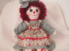 Handmade 20'' Raggedy Ann Doll made by Jodi Lynn by JodisDolls