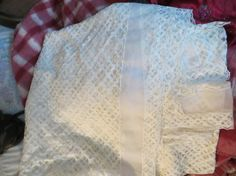 Vintage white sheer lace large tablecloth by Linsvintageboutique